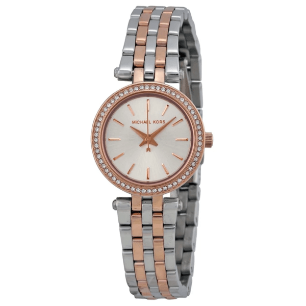 MICHAEL KORS Petite Darci Silver Dial Two-tone Ladies Watch MK3298