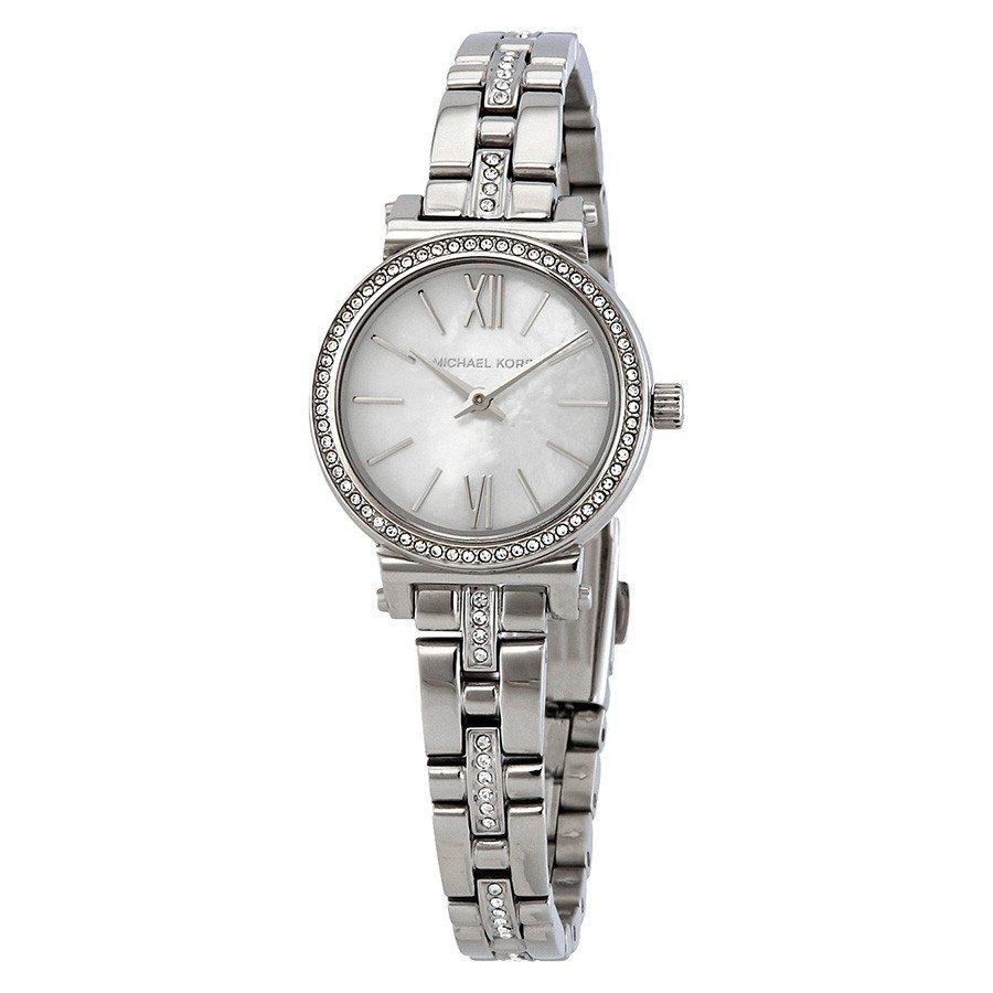 04e5587db MICHAEL KORS Sofie Crystal Mother of Pearl Dial Ladies Watch MK3906 ...