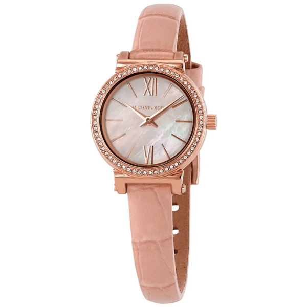 MICHAEL KORS Sofie Crystal White Mother of Pearl Dial Ladies Watch MK2715