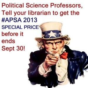 Cambria Press academic publisher #APSA2013