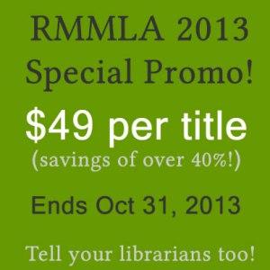 Cambria Press academic publisher RMMLA