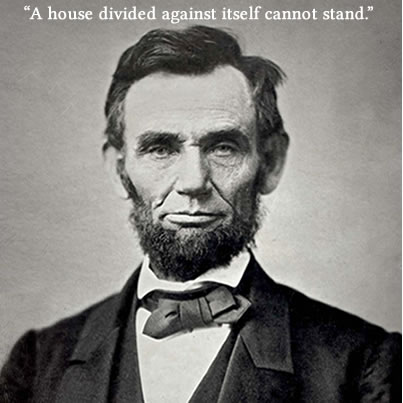 Abraham Lincoln House Divided Cambria Press