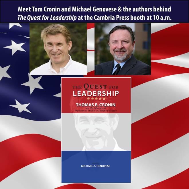 #APSA2015 Cambria Press author publication Michael Genovese Thomas Cronin