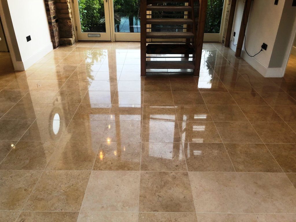 Polished Marble Floor After Polishing Great Shelford