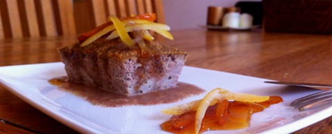 Loin pork cake with citric sauce (Image courtesy of Que Rico Tapas)