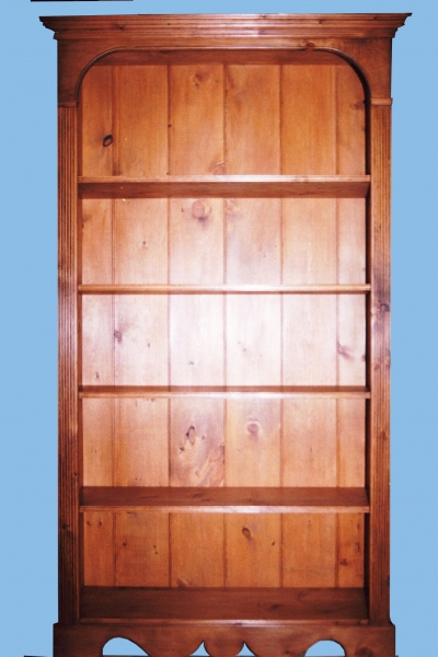 Free-standing Antiqued Pine Bookcase