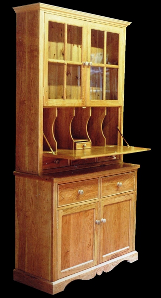 Cherry cabinet with integrated writing desk