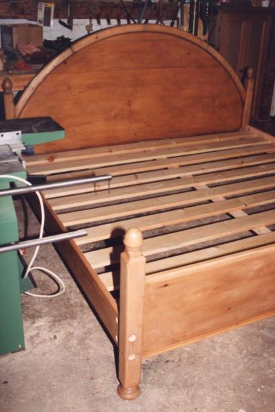 Seven foor wide bespoke bed