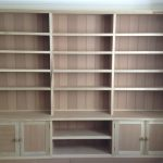 Unpainted Bookcase with interlocking modules