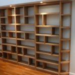 Oak shelves with lighting