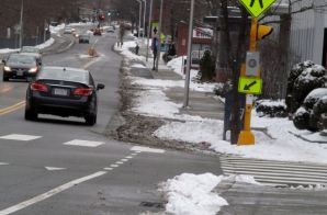 dr2chase's photo of winter conditions on the Concord Avenue bikeway westbound
