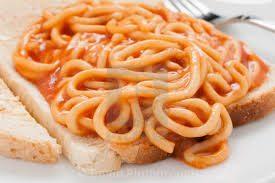 謎の食べ物~スパゲッティ・オン・トースト~