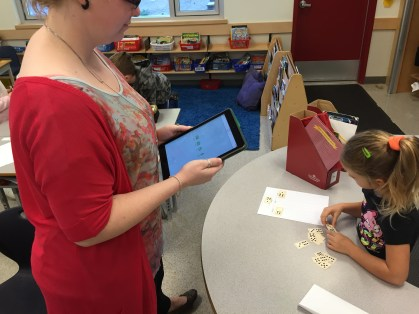 Ms. Warkentin captures learning evidence and shares it with a parent with FreshGrade.