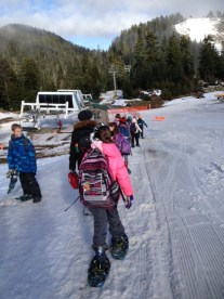 Grade 5 visit to Grouse Mountain