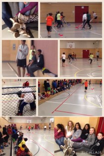 Grade 6/7 Floor Hockey Action