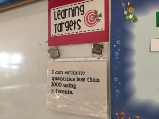 Making learning visible - sharing learning targets with students.