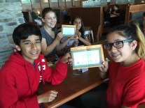 Super readers at lunch