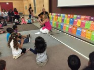 Ms. Vogstad and Ms. Jennings sing with our new Kindergarten students