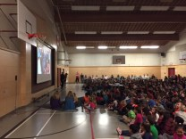 Students enjoy a look back at Term 1 during our recent assembly