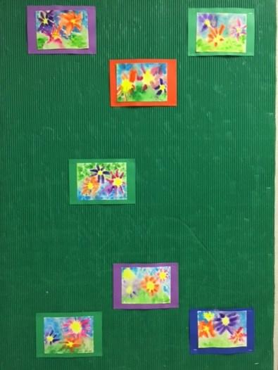 Grade 3 watercolour paintings - wet-on-wet technique