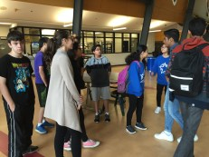 Grade 7 leaders visit their future home