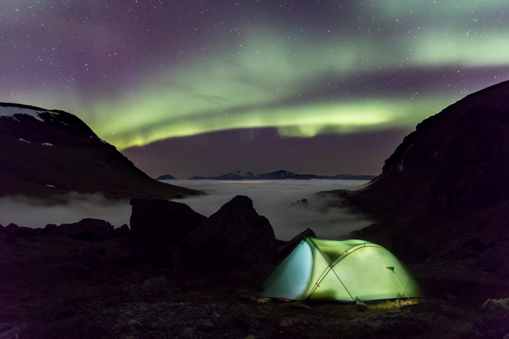 Camping below the aurora but above the clouds. 5DIV 24 70 vr II