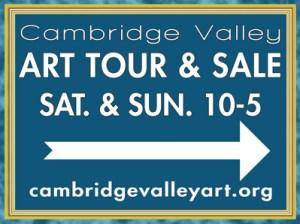 Cambridge Valley Art tour sign