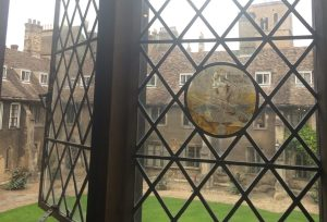 looking out of college window