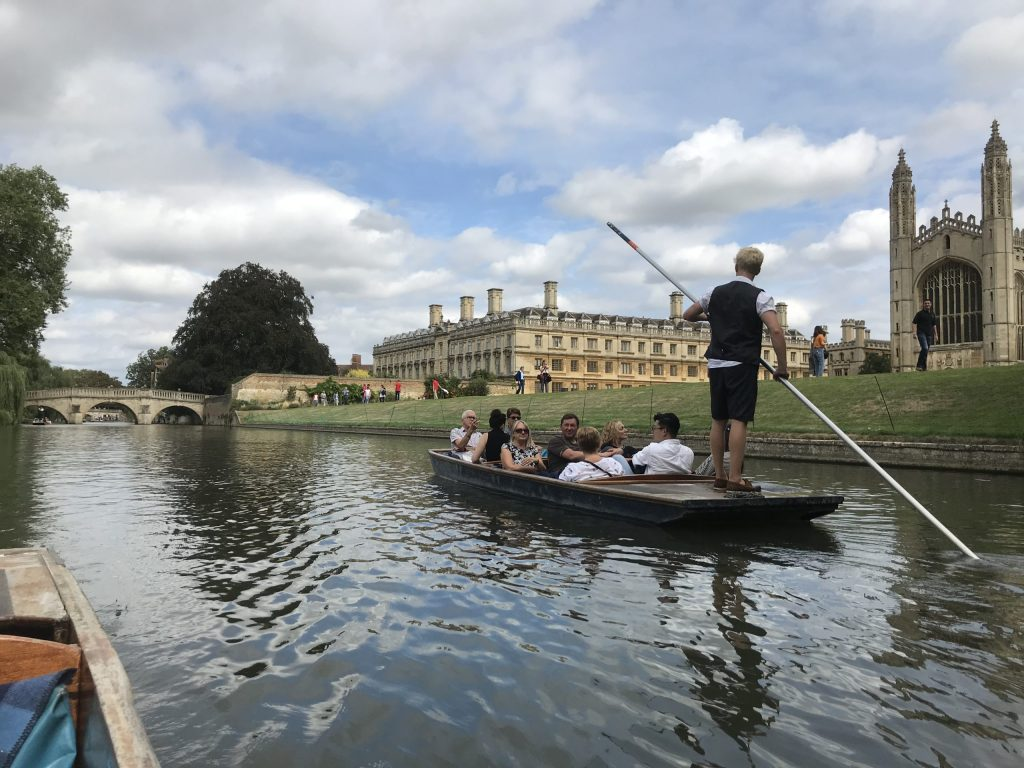 punting from river