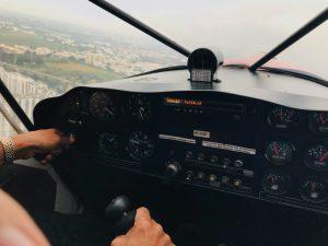 controls of microlight aircraft