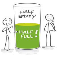 Are you a glass-half-full person? (Everyday Idioms)