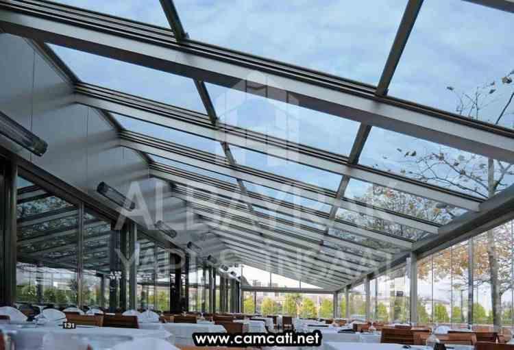acilir motorlu cam cati3 - Açılır Motorlu Cam Çatı