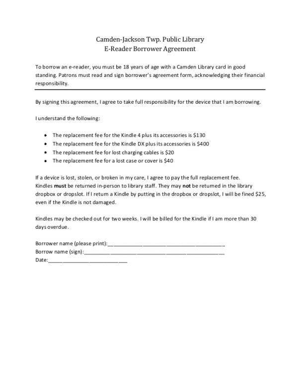 Lending Agreement | Camden-Jackson Twp  Public Library