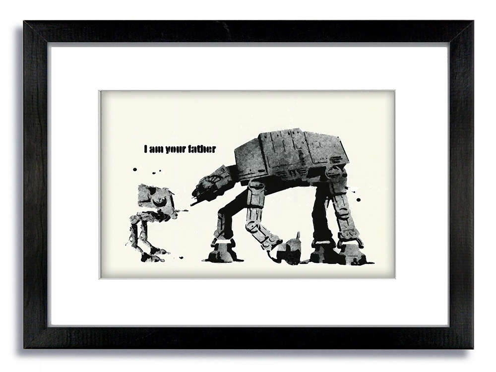 I Am Your Father By Banksy Banksy I Am Your Father Street Art Graffiti Metal Art Banksy I Am Your Father Street Artwork Print On Glossy Paper Or Canvas Ragam Budaya