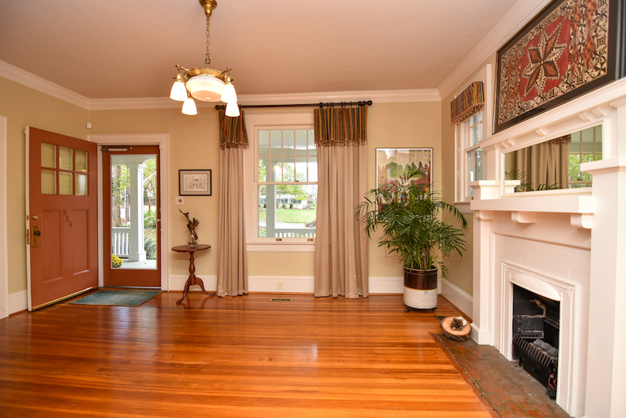 New Listing, 426 Carolina Circle in Buena Vista, Winston Salem. Living room, front door.