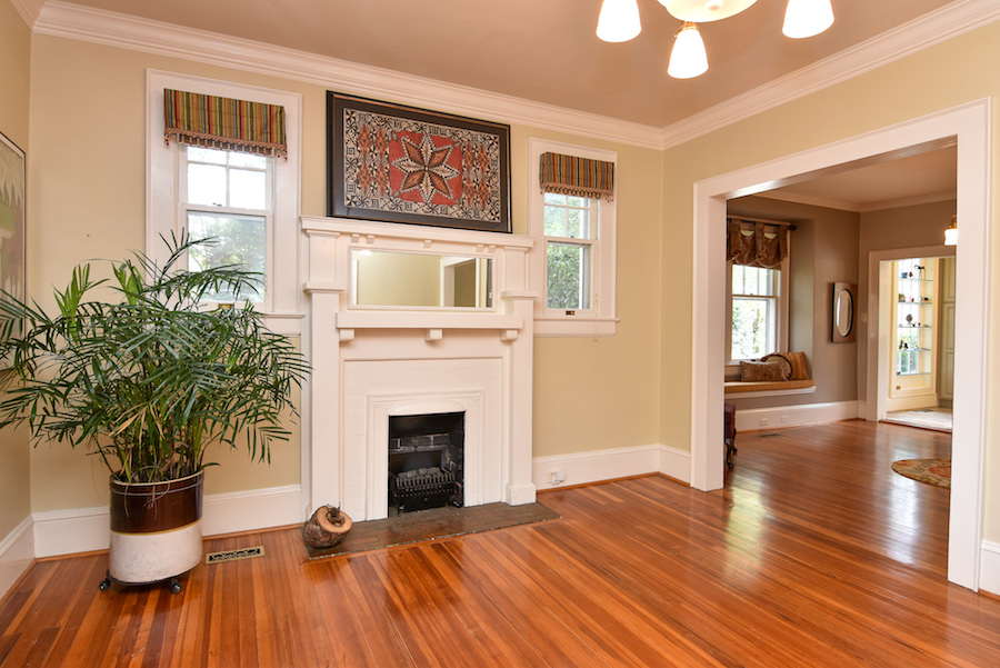 New Listing, 426 Carolina Circle in Buena Vista, Winston Salem. Living room.