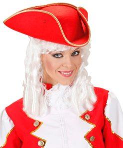 chapeau tricorne rouge
