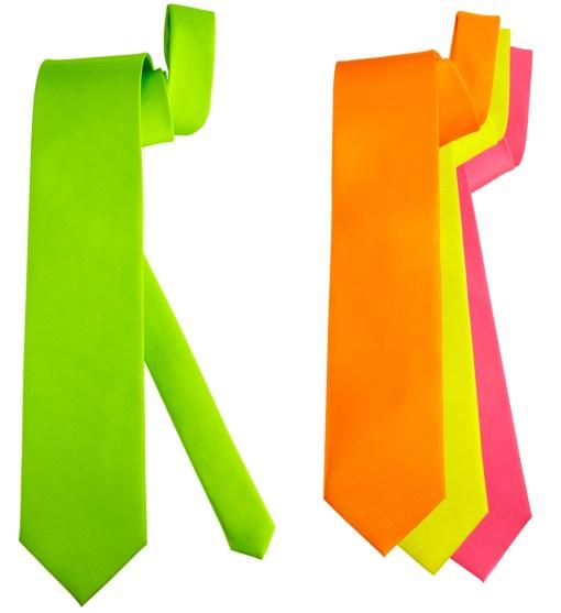 cravate fluo jaune