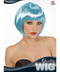 perruque courte bleue