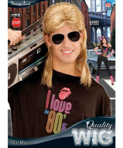 perruque blonde avec lunettes