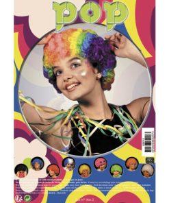 perruque bouclée multicolore