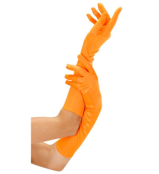 gants orange fluo