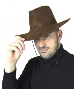 chapeau buffalo marron