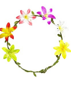 couronne de fleurs hibiscus