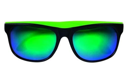 lunettes noires effet miroir