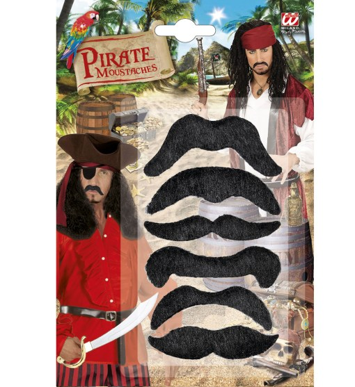 set moustache noires