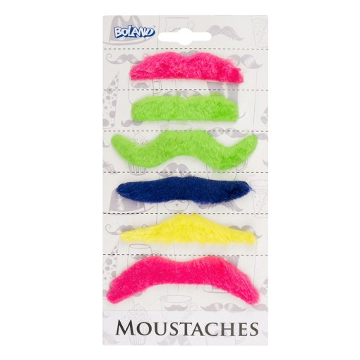 set moustaches multicolores