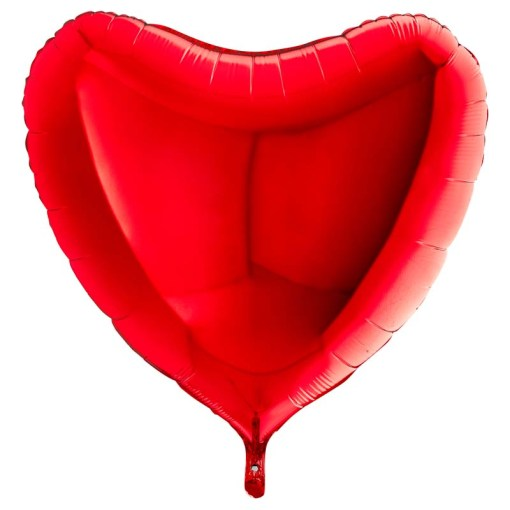 ballon coeur rouge mylar