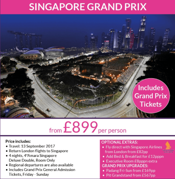 Singapore F1 Offer