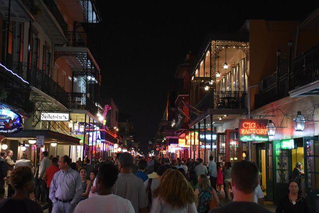 Bourbon Street - New Orleans Fall in America